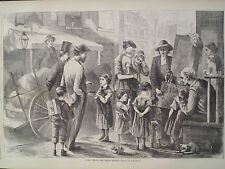 Street Music The Organ Grinder And Monkey New 1866 Antique Print Harper's Weekly