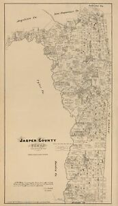 Jasper County Texas - Walsh 1879 - 23.00 x 39.83