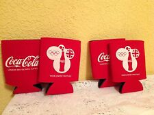 LONDON 2012 OLYMPIC GAMES COCA-COLA KOOZIE CAN HOLDERS 1 PAIR