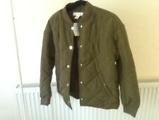 NWT KHAKI LIGHTLY PADDED CASUAL JACKET BY H&M L.O.G.G SIZE 10 RRP £29.99