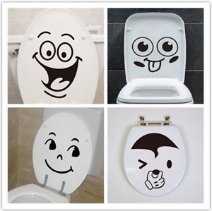 Funny Toilet Seat Stickers Vinyl Decals Bathroom Sticker Sign Face Art for Kids