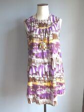 MANGO MNG robe été sans manche imprimé wax africain 38  TRES BON ETAT