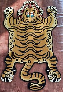 Tibetan Tiger Rug With 100% Woolen, 4x6 feet for Home Décor