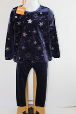 Gymboree Winter Star Girls Size 3T Velour Navy Top Leggings NWT NEW Set