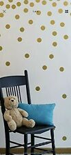 Gold Wall Stickers & Murals Decal Dots (175 Decals) Easy To Peel + Safe On Walls