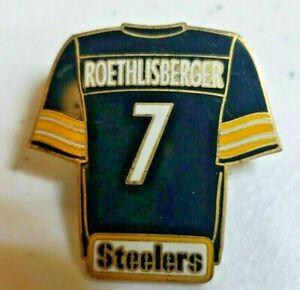 Pittsburgh Steelers Ben Roethlisburger jersey lapel pin-Super Bowl Champion 2004
