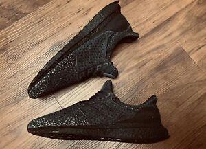 Rare Adidas 1 UltraBoost Clima Men's Triple Black Running Shoes Size 9 CQ0022