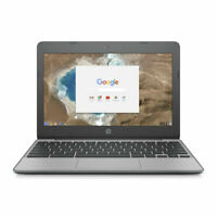 HP 11-v033nr 11.6 inch (16GB, Intel Celeron, 1.60GHz, 2GB) Chromebook - Ash Gray
