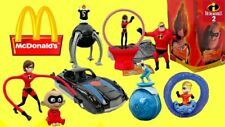 2004 McDONALDS DISNEY PIXAR THE INCREDIBLES COMPLETE 8 TOY SET MIP
