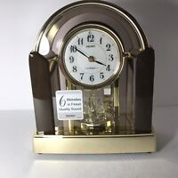 "Seiko ""6 Melodies"" Mantle Clock QXW248G w/ Rotating Pendulum Quartz Movement-NEW"