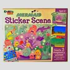 Kids Creative Activity Craft Reusable Sticker Scenes Unicorn Mermaid Dinosaur