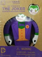 2 Set Lot Official DC Comics Collectibles Batman The Joker Painted Wood Figure