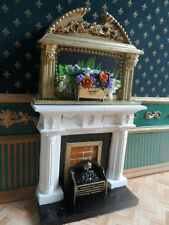 dolls house fireplace and mirror