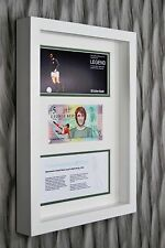 GEORGE BEST NORTHERN IRELAND £5 POUND BANKNOTE FIVER FRAMED CHRISTMAS GIFT IDEA