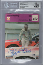RICHARD PETTY SIGNED #1115 SPORTSCASTER CARD NASCAR ENCAPSULATED BECKETT BAS