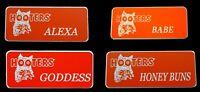 4 Hooters Girl Uniform Name Tag Alexa Babe Goddess Honey Pin Lot Holiday Gift