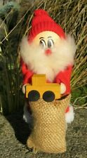 Nordic Santa Bag of Presents Wood Gnome Christmas Ornament Nisse Tomte Tonttu