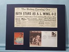 Babe Ruth homers to win the First All Star Game in 1933 & Babe Ruth FDC