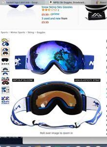 Nipsu Ski Snowboard Googles with case NEW