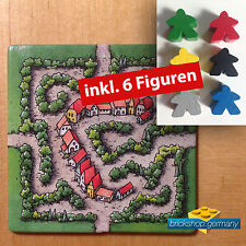 Carcassonne Erweiterung  - Labyrinth (altes Design)  Extention + 6 Figuren !