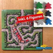 Carcassonne Erweiterung  - Labyrinth -  Carcassonne Extention + 6 Figuren !