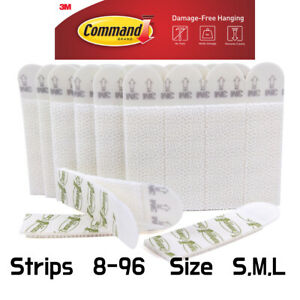 3M Command Picture Hanging Strips Damage Free SMALL MEDIUM LARGE (4-96pc)