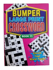 A4 BUMPER LARGE PRINT CROSS WORD BOOK PUZZLE BOOKS BUMPER FIND/ANSWERS ACTIVITY