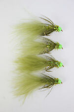 X4 Green Hothead Damsel, S/S, Fly Size 12, Trout Fishing Flies
