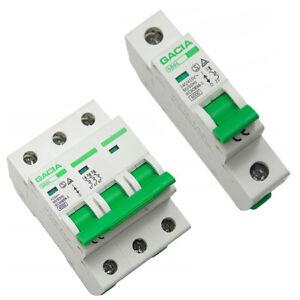 Leitungsschutzschalter LS-Schalter MCB Sicherungsautomat B C 1-3P 6-63A GACIATÜV