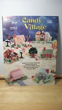 Candy Village ~ Holiday Decor Plastic Canvas Patterns~OOP~1995