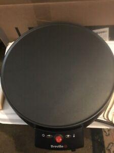 "Breville VTP130 Traditional Crepe Pancake and Omelette Maker Black 12"""