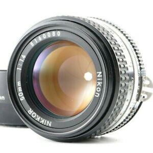 Near MINT Nikon Ai-s Ais NIKKOR 50mm f/1.4 MF Standard Lens w/HOOD from Japan