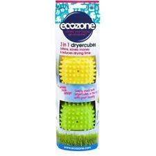 Yellow Green Ecozone Quick Drying Softening Tumble Dryer Cube Balls Pack Of 2