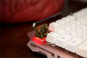 Chinese Dragon Gold Metal Key Cap ESC for Cherrt MK 3D Collection keycap Light