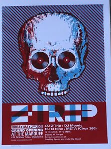 """Z-Trip Poster - Denny Schmickle - 18x24"""" Hand Screened 2010"""