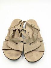 Women's SAS Huggy Taupe Beige Comfort Adjustable Slingback Sandals Size 13 Wide