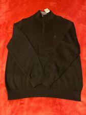 NWT Men's Black Nautica 1/4 Zip Sweater Size Large