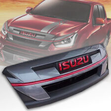 GREY FRONT GRILLE GRILL WITH RED LOGO FOR NEW ISUZU D-MAX DMAX 2015 16 17 18