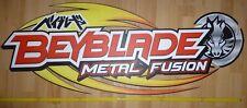 BeyBlade Metal Fusion Orginal Werbeschild / Deko 120 cm x 45 cm