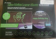 MR. CHRISTMAS PROGRAMMABLE LITE-WRITE LASER SHOW ANIMATED & MUSICAL Holidays