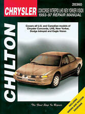 1993-1997 Repair Manual Chrysler Concorde, Intreped, LHS, New Yorker, and Visio