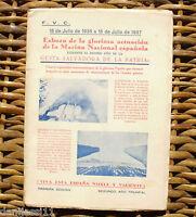 Esbozo de la gloriosa actuación de la Marina Nacional española/ 1936-1937