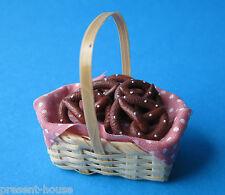 Korb mit Brezel Küchen Puppenhausdekoration Miniatur 1 12