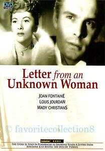 Letter from an Unknown Woman (1948) - Joan Fontaine, Louis Jourdan (Region All)