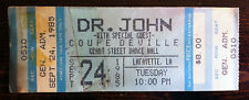 VTG Dr. John Coupe Deville 1985 Concert Tour Ticket Stub 80s Rock Jazz