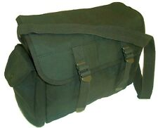 LARGE MILITARY MESSENGER BAG Heavy duty Army satchel olive canvas haversack