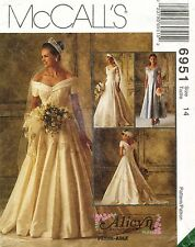 1990's VTG McCall's Misses' Bridal Gowns&Bridesmaids Dress Pattern 6951 Size 14