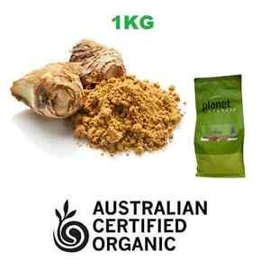 Certified Organic GINGER 1kg ~ Premium Ground Powder ~ Planet Organic Herb Spice