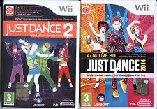 JUST DANCE 2014 + JUST DANCE 2 WII NUOVI SIGILLATI EDIZIONE ITALIANA