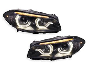 Litec BMW 5er F10/F11 10-13 LED Tagfahrlicht Xenon Scheinwerfer schwarz